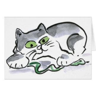 Garden Snake and the Curious Kitten Card