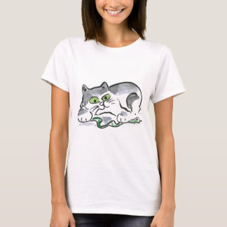 Garden Snake and the Curious Kitten T-Shirt