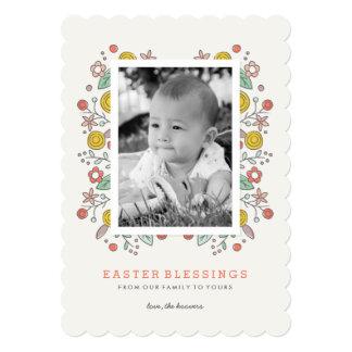 Garden Soiree Easter Card - Crimson
