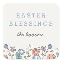 Garden Soiree Easter Sticker - Cornflower