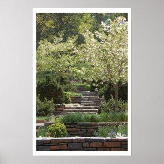 Garden Stairway (w/border) Posters