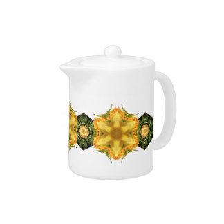 Garden Star Flower Teapot