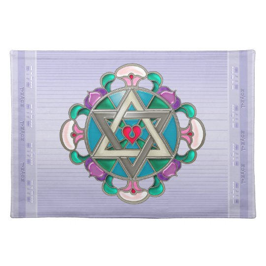 Garden Star - Lilac #2 (Placemat) Cloth Placemat