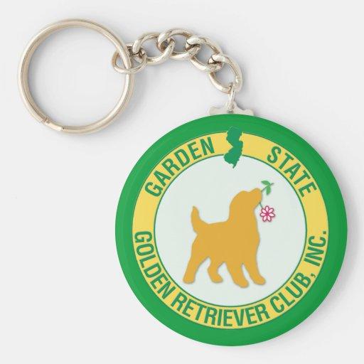 Garden State Golden Retriever Keychain
