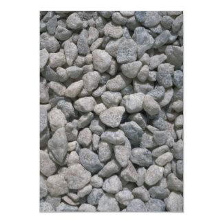 "Garden stones texture 5"" x 7"" invitation card"