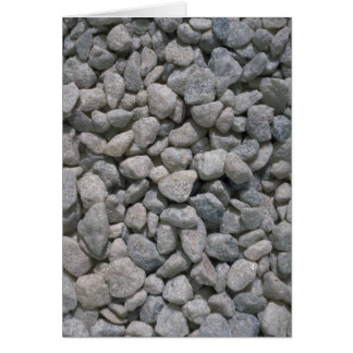 Garden stones texture greeting card