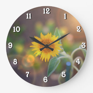 Garden Sunflower wall clock