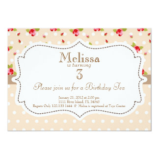 Garden Tea Party Birthday Invitation 13 Cm X 18 Cm Invitation Card