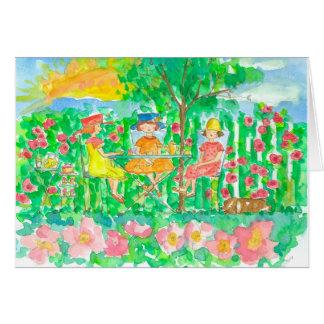 Garden Tea Party Girlfriends Happy Birthday Card