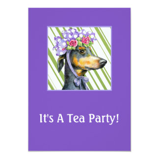 "Garden Tea Party Invitations 5"" X 7"" Invitation Card"