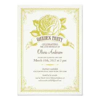 Garden Tea Party Invitations