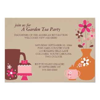 Garden Tea Party Luncheon Invitations