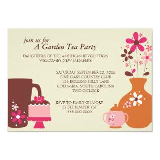 Garden Tea Party Luncheon Invitations