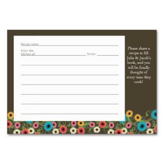Garden Tea Party Recipe Card Table Card