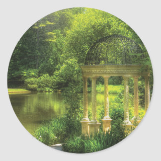 Garden - The Temple of Love Classic Round Sticker