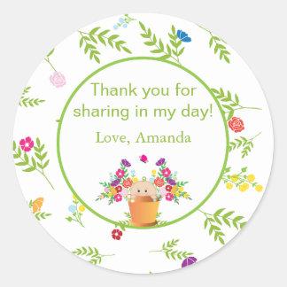 Garden Theme Favor Sticker