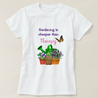 Garden Therapy with Potted Plants Garden Girl  T-Shirt