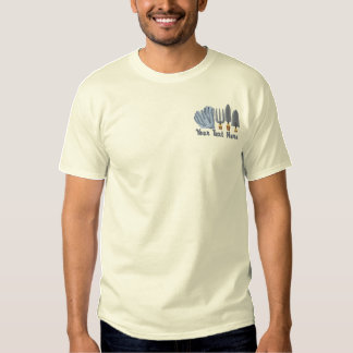 Garden Tools Embroidered T-Shirt