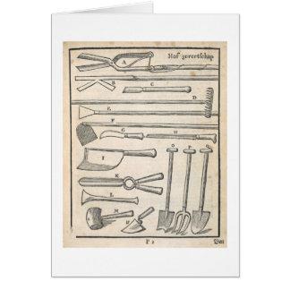 Garden tools, from 'The Dutch Gardener' by Johann Card