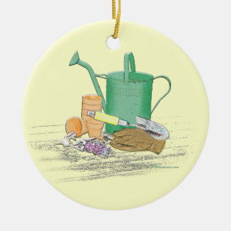 Garden Tools Garden Art Ceramic Ornament