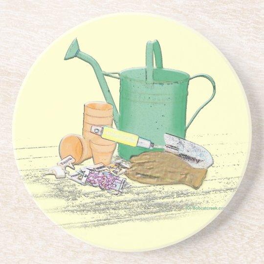 Garden Tools Garden Art Drink Coaster