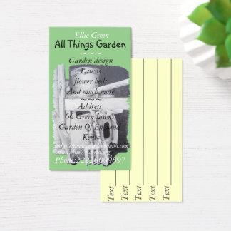 Garden Tools Painting For Gardener Garden Design Business Card