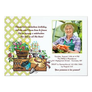 Garden Tools Photo Invitation