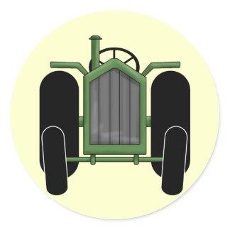 Garden Tractor Classic Round Sticker