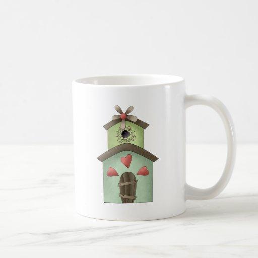 Garden Treasures · Birdhouse Classic White Coffee Mug