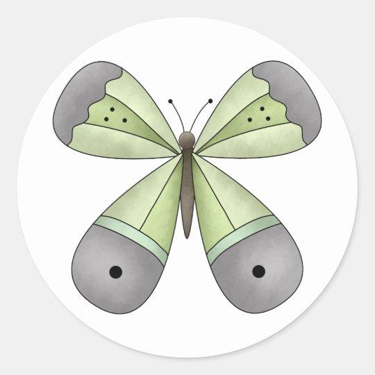 Garden Treasures · Butterfly Classic Round Sticker