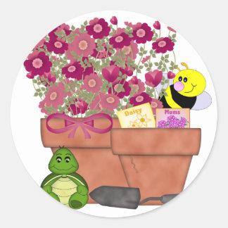 Garden Treasures Classic Round Sticker