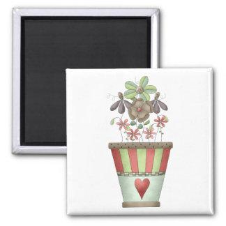 Garden Treasures · Flowerpot Magnet