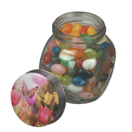 Garden tulips jellybean jars and tins jelly belly candy jars