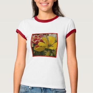Garden Tulips Red Yellow White T-Shirt
