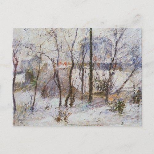 Garden under Snow 1879 Postcard
