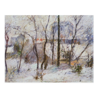 Garden under Snow, 1879 Postcard
