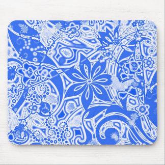 Garden : Version Blue Mouse Pad