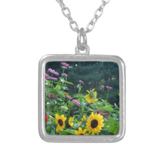 Garden View Silver Plated Necklace