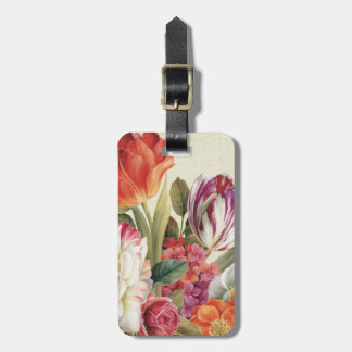 Garden View Tossed Flowers Travel Bag Tags