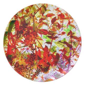 Garden Vines Art Photo Plastic Picnic Party Plate