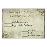 Garden Vintage Wedding RSVP Card