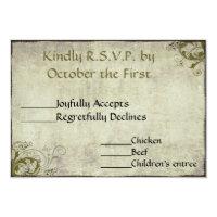 Garden Vintage Wedding RSVP Card Announcement (<em>$1.91</em>)