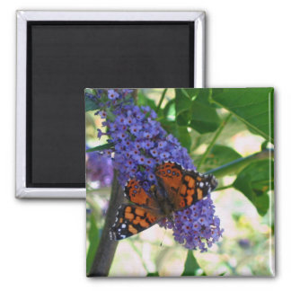 Garden Visitor 2 Inch Square Magnet