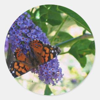 Garden Visitor Classic Round Sticker
