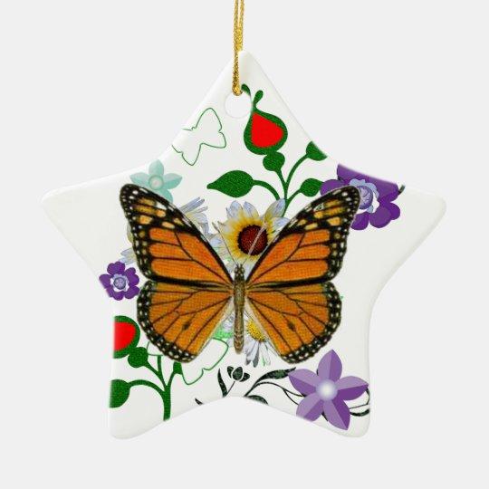 Garden Visitors butterfly Ladybug Ceramic Ornament