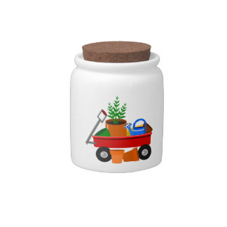Garden wagon candy jar