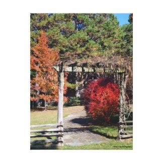Garden Walkway Canvas Print