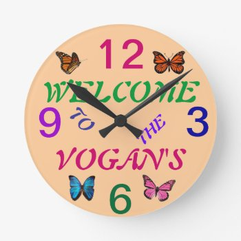 Garden Wall Clock Personalized by creativeconceptss at Zazzle