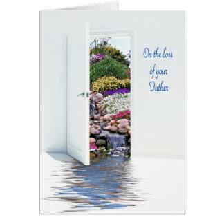 Garden watefalls for loss of Dad Card