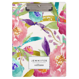 Garden Watercolor Personalized Clipboard